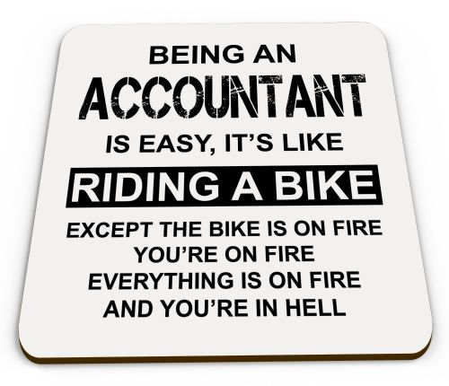 Being A... Is Easy Its Like Riding A Bike Funny Novelty Glossy Mug Coaster